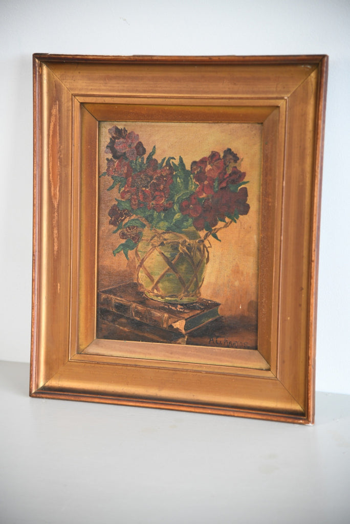 A C Harris Still Life Oil Painting