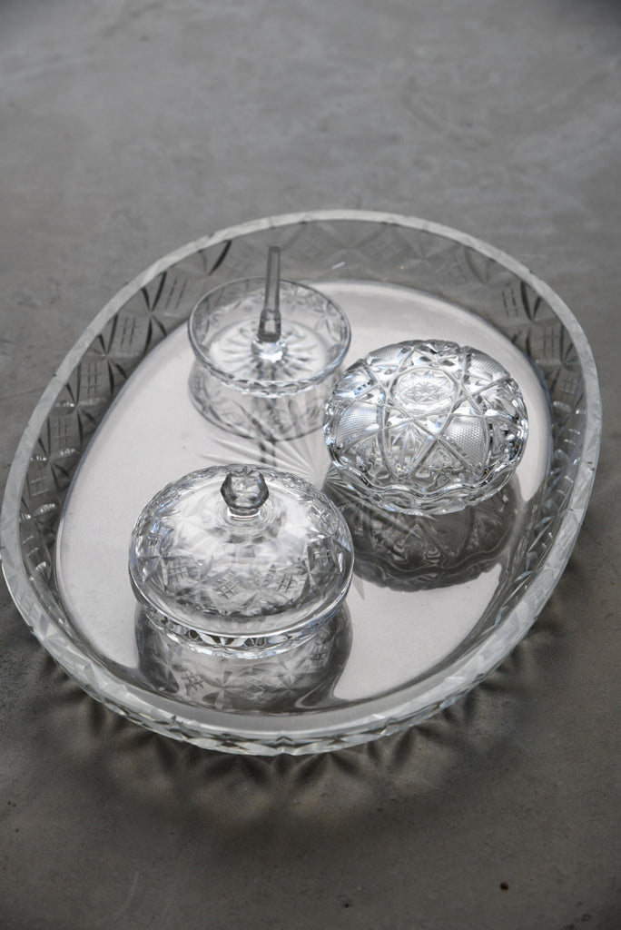 Cut Glass Dressing Table Set