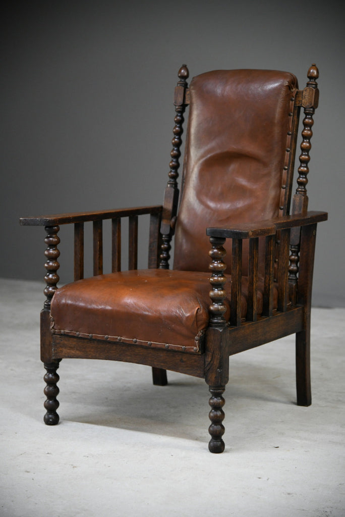 Arts & Crafts Oak Reclining Armchair