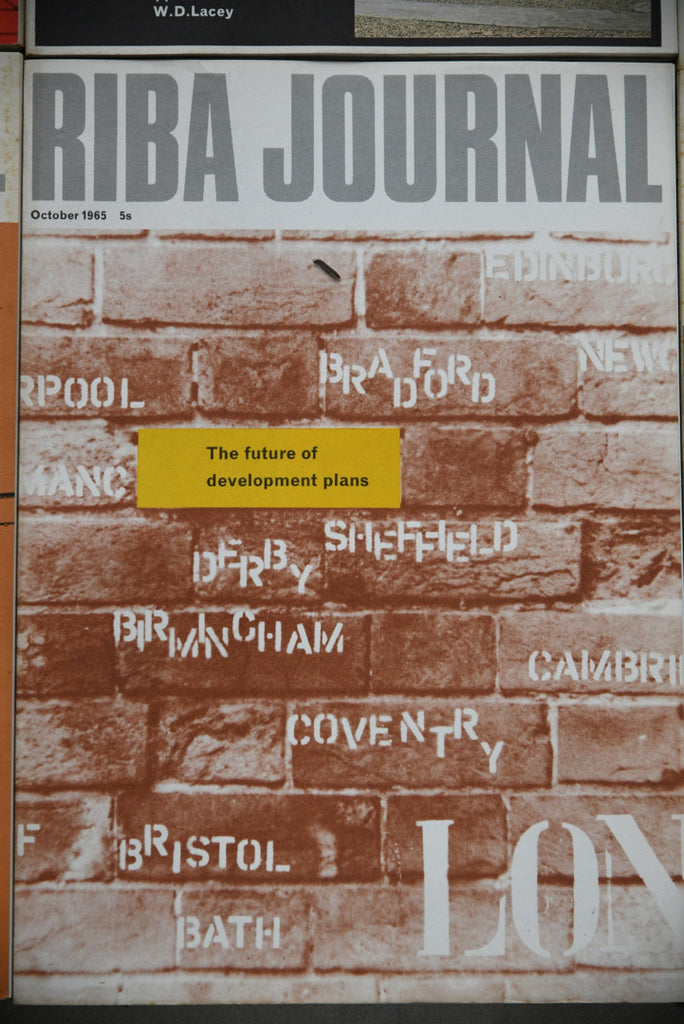 RIBA Journal 12 Issues 1965
