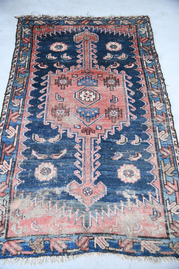 Antique Well Worn Eastern Rug