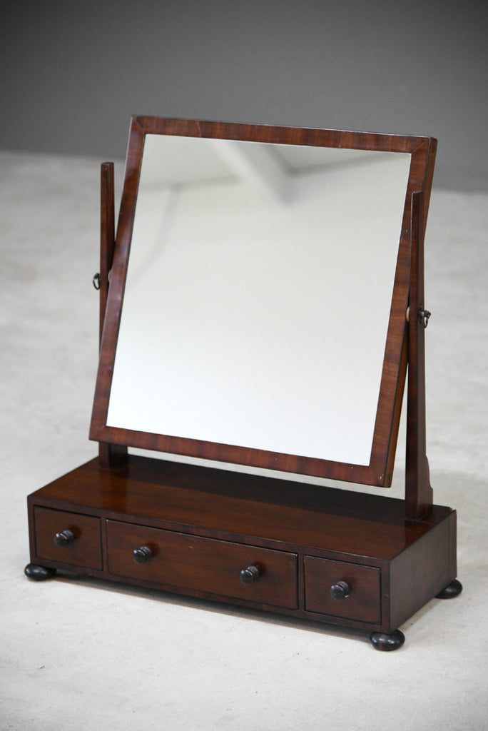 Antique Mahogany Dressing Table Swing Mirror