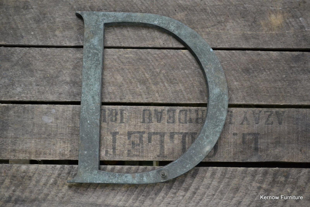 Vintage D Shop Letter - Kernow Furniture 100s vintage, retro & antique items in stock