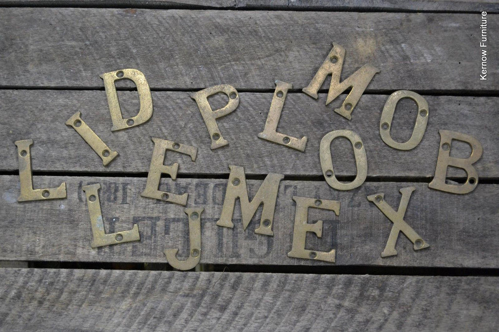 Collection Vintage Brass Letters - Kernow Furniture 100s vintage, retro & antique items in stock