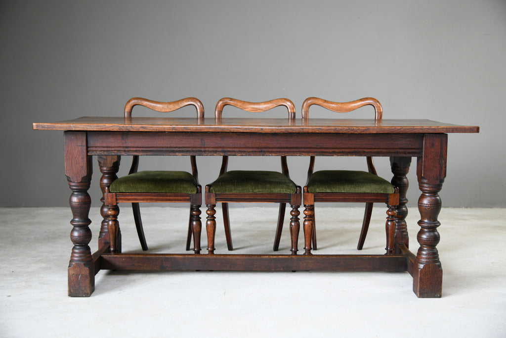 17th Century Style Oak Refectory Dining Kitchen Rustic Country Table
