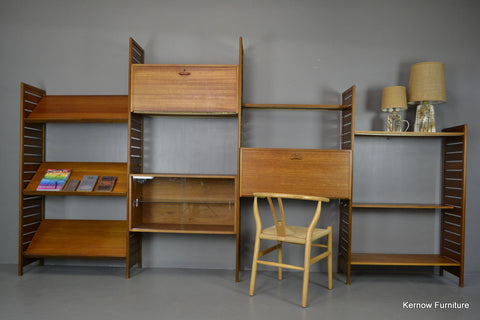 Retro 4 Bay Ladderax Shelving System - Kernow Furniture 100s vintage, retro & antique items in stock