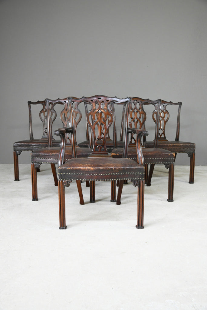 Set 6 Chippenddale Revival Dining Chairs