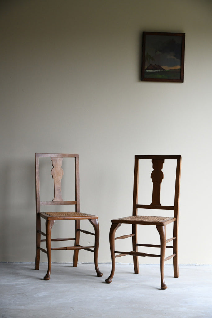Pair Walnut Side Chairs