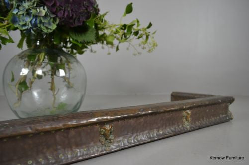 Antique Victorian Rams Head Copper Fire Fender - Kernow Furniture 100s vintage, retro & antique items in stock