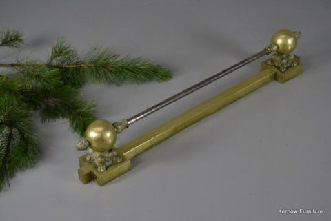 Antique 19th Century Brass Adjustable Fire Fender - Kernow Furniture 100s vintage, retro & antique items in stock