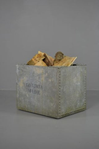 Riveted Galvanised Tank Log Bin - Kernow Furniture 100s vintage, retro & antique items in stock