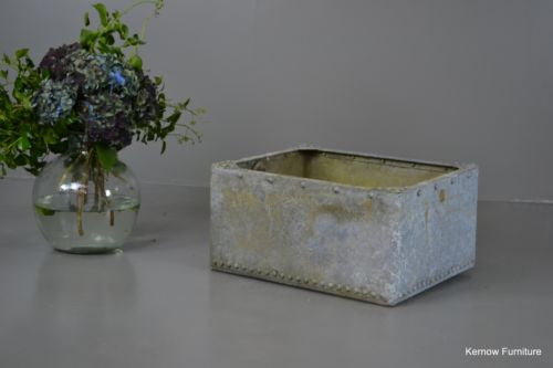 Riveted Galvanised Log Bin - Kernow Furniture 100s vintage, retro & antique items in stock