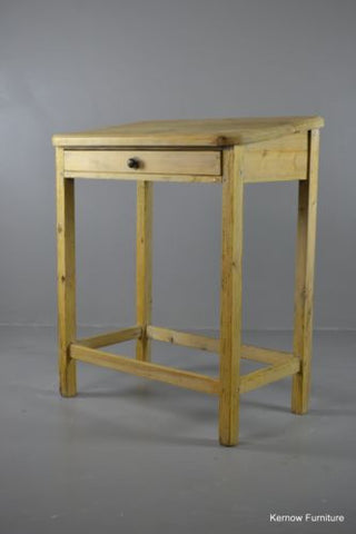 Waxed Pine Clerks Desk - Kernow Furniture 100s vintage, retro & antique items in stock