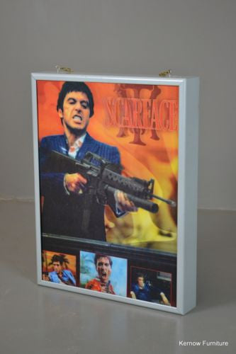 Lenticular Printed Scarface Poster Cinema Light Box - Kernow Furniture 100s vintage, retro & antique items in stock