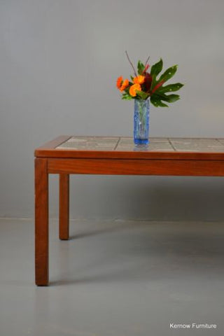 Large Retro Teak Tiled Coffee Table - Kernow Furniture 100s vintage, retro & antique items in stock