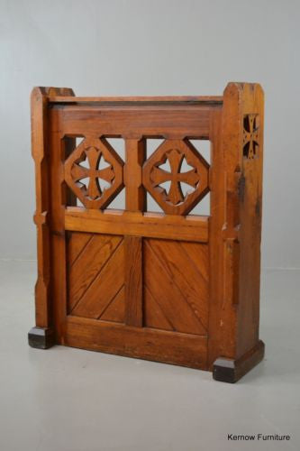 Ecclesiastical Pitch Pine Chapel Bible Book Shelf - Kernow Furniture 100s vintage, retro & antique items in stock
