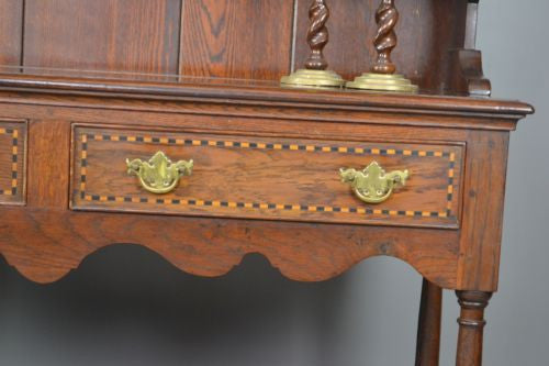 Antique Georgian Style Oak Kitchen Dresser - Kernow Furniture