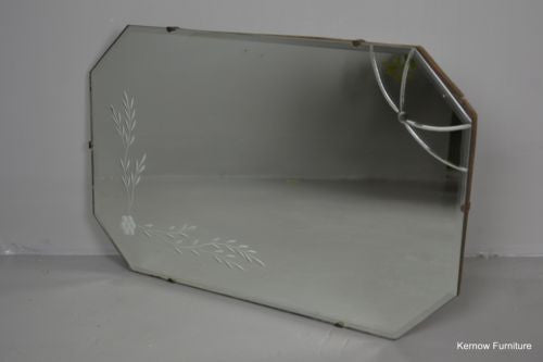 Vintage Frameless Mirror - Kernow Furniture 100s vintage, retro & antique items in stock