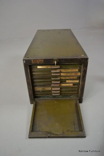 Vintage Industrial Roneodex Steel Filing Drawers - Kernow Furniture