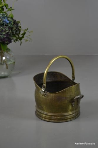 Traditional Style Brass Coal Bucket Scuttle - Kernow Furniture 100s vintage, retro & antique items in stock