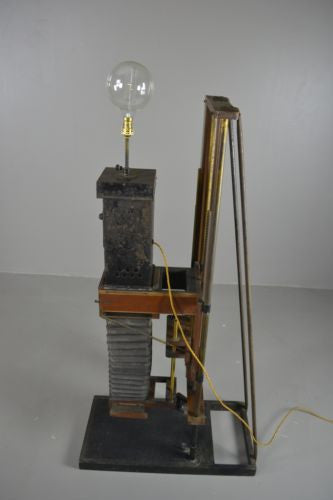 Unusual Antique Converted Camera Lamp - Kernow Furniture