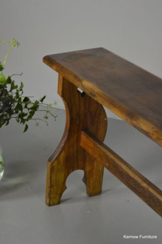 Pine Ecclesiastical Chapel Hall Bench - Kernow Furniture 100s vintage, retro & antique items in stock