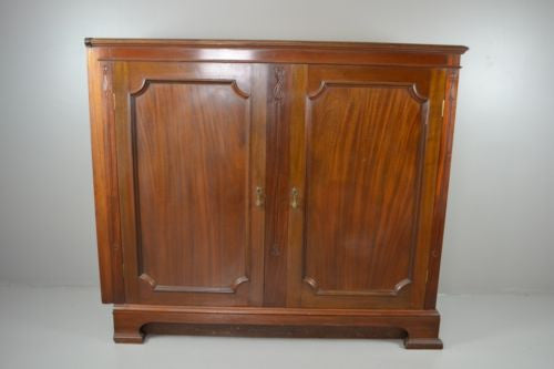 Large Mahogany Double Door Shop Cabinet by T.Simpson & Sons - Kernow Furniture