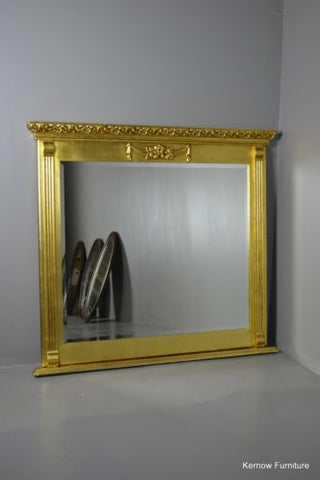 Antique Style Square Modern Gilt Frame Mirror - Kernow Furniture 100s vintage, retro & antique items in stock