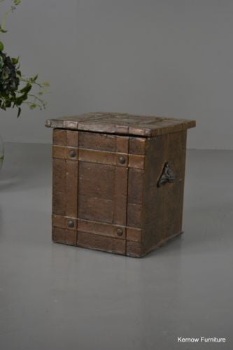 Early 20th Century Copper Coal Box - Kernow Furniture