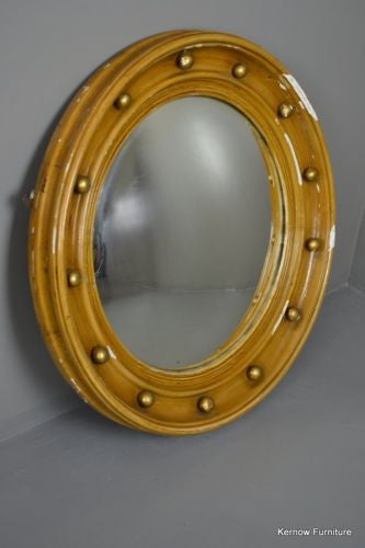 Large Regency Style Convex Wall Mirror - Kernow Furniture 100s vintage, retro & antique items in stock