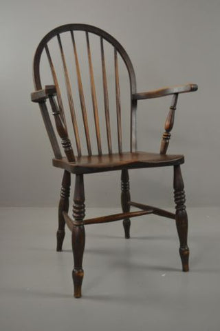Elm Windsor Open Arm Chair - Kernow Furniture 100s vintage, retro & antique items in stock