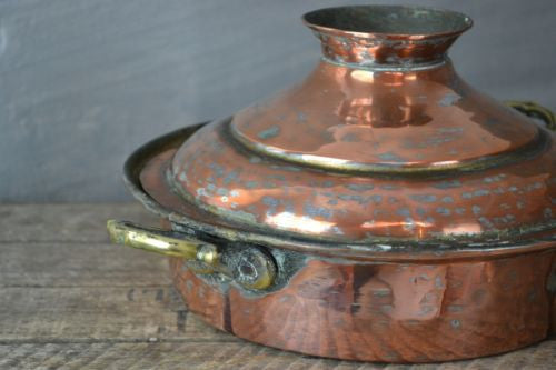 Decorative Antique Copper Pot & Lid - Kernow Furniture 100s vintage, retro & antique items in stock