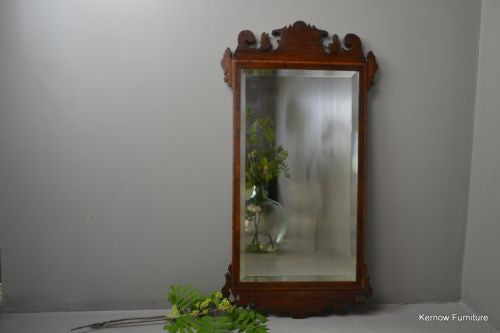 18th Century Style Mahogany Wall Mirror - vintage retro and antique furniture