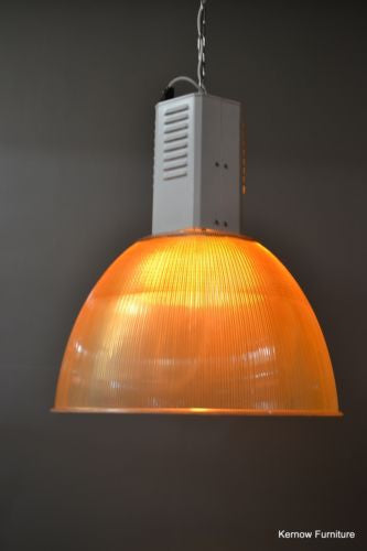 Large Industrial Factory Ceiling Light Rewired - Kernow Furniture - 2