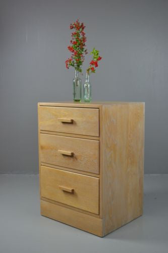 Vintage Limed Oak Deco Style Chest of Drawers - Kernow Furniture
