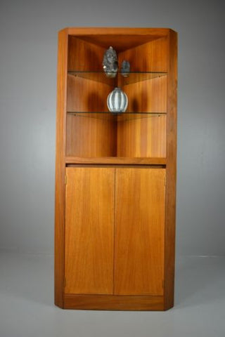 Retro Teak Corner Cabinet Dresser Cupboard - Kernow Furniture 100s vintage, retro & antique items in stock