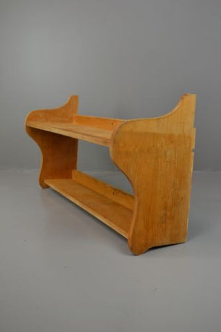 Rustic Beech Wall Mount Shelves - Kernow Furniture 100s vintage, retro & antique items in stock