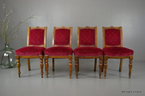Set 4 Antique Victorian Dining Chairs - Kernow Furniture 100s vintage, retro & antique items in stock