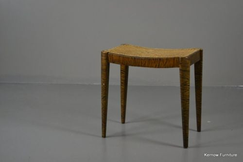 Fischel Furniture Caned Birch Effect Dressing Stool - Kernow Furniture 100s vintage, retro & antique items in stock