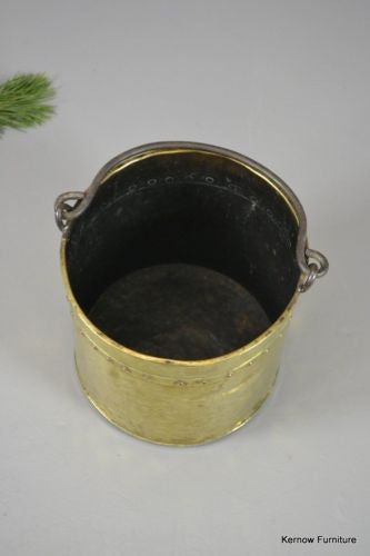 Vintage Riveted Brass Coal Bucket - Kernow Furniture 100s vintage, retro & antique items in stock