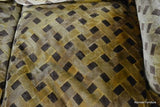 Large Italian Brown & Gold Velour 3 Seater Sofa - Kernow Furniture - 7