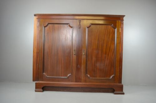 Large Mahogany Double Door Shop Cabinet by T.Simpson & Sons - Kernow Furniture - 1