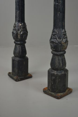 Pair Antique Cast Iron Horse Hitching Posts - Kernow Furniture