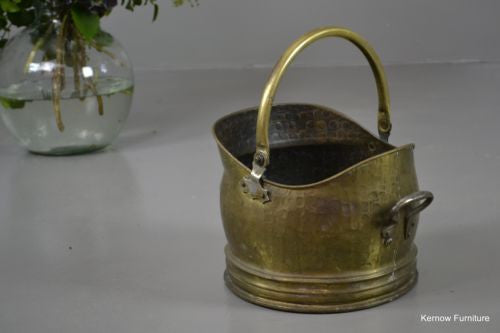 Traditional Style Brass Coal Bucket Scuttle - Kernow Furniture