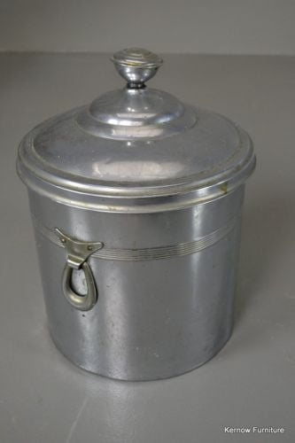 Vintage Deco Style Chrome Coal Bucket - Kernow Furniture
