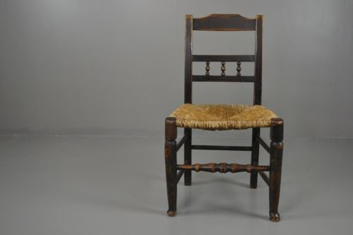 Single Rustic Country Made Vernacular Rush Seat Chair - Kernow Furniture 100s vintage, retro & antique items in stock