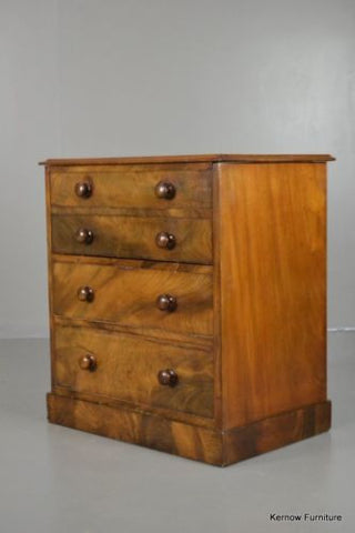 Antique Victorian Figured Mahogany Chest Commode - Kernow Furniture 100s vintage, retro & antique items in stock