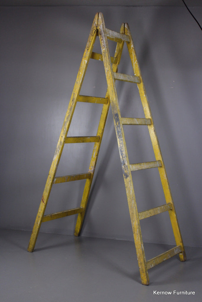 Large Vintage Trestle Ladder - Kernow Furniture 100s vintage, retro & antique items in stock