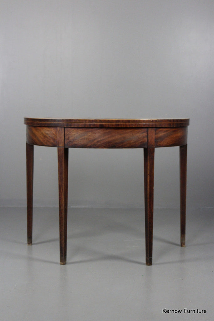 Antique 18th Century Mahogany Card Table - Kernow Furniture 100s vintage, retro & antique items in stock