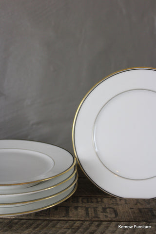 4 Traditional Style White Porcelain Side Plates - Kernow Furniture 100s vintage, retro & antique items in stock